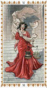 Аркан 11 Справедливость Романтическое Таро