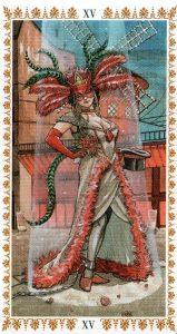 Аркан 15 Дьявол Романтическое Таро