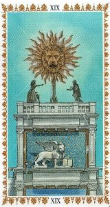 Аркан 19 Солнце Романтическое Таро