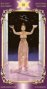 11 Аркан Справедливость Таро Таинственного Мира