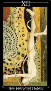 12 Аркан Повешенный Золотое Таро Климта