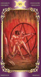 15 Аркан Дьявол Таро Таинственного Мира