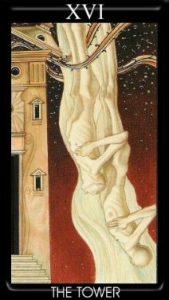 16 Аркан Башня Золотое Таро Климта