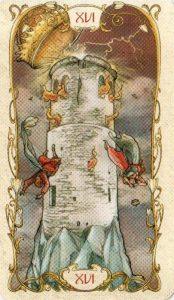 16 Башня Таро Альфонса Мухи MUCHA TAROT