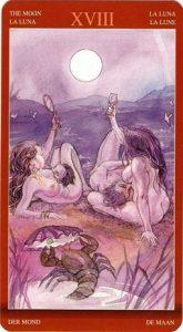 18 Аркан Луна Таро Магии Наслаждений