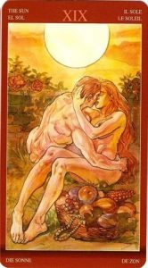 19 Аркан Солнце Таро Магии Наслаждений
