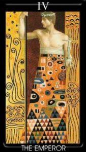 4 Аркан Император Золотое Таро Климта