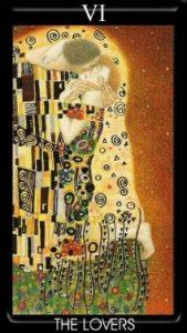 6 Аркан Влюбленные Золотое Таро Климта