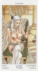 8 Справедливость из Таро Казанова