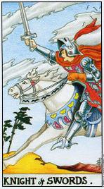 12. Рыцарь Мечей Таро Райдера Уэйта