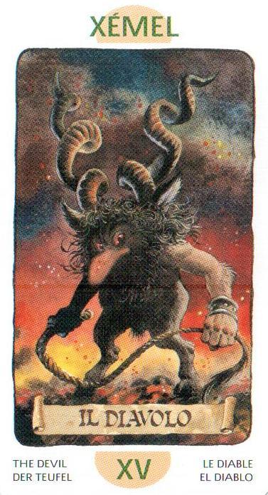 15 Аркан Дьявол из Таро Гномов