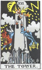 16 Аркан Башня Универсальное Таро Райдера Уэйта