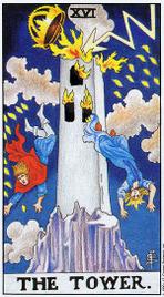 16. Башня Таро Райдера Уэйта