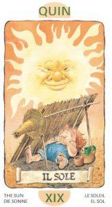 19 Аркан Солнце из Таро Гномов