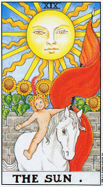 19. Солнце Таро Райдера Уэйта