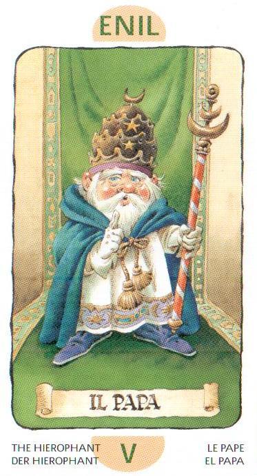 5 Аркан Папа Иерофант из Таро Гномов