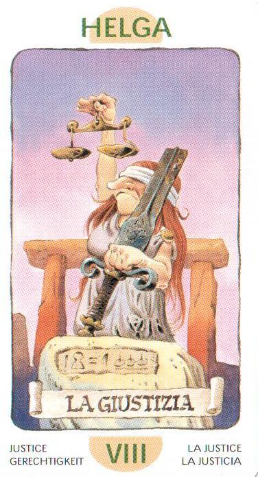 8 Аркан Справедливость Правосудие из Таро Гномов