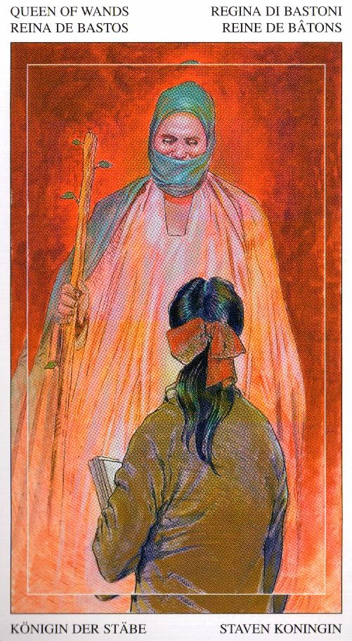 Королева Жезлов Таро Мир Духов Tarot of the Spirit World