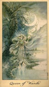 Королева Жезлов Таро Призраков и Духов Ghosts & Spirits Tarot