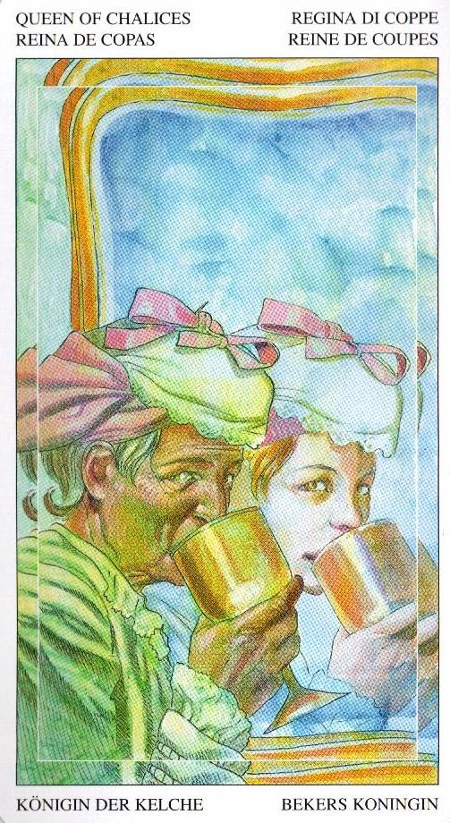 Королева Кубков Таро Мир Духов Tarot of the Spirit World