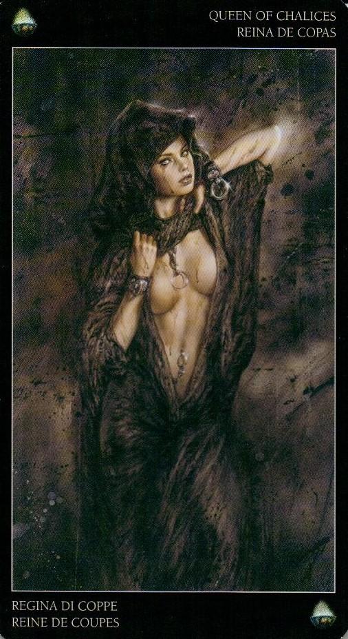 Королева Кубков Темное Таро Ройо