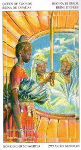 Королева Мечей Таро Мир Духов Tarot of the Spirit World