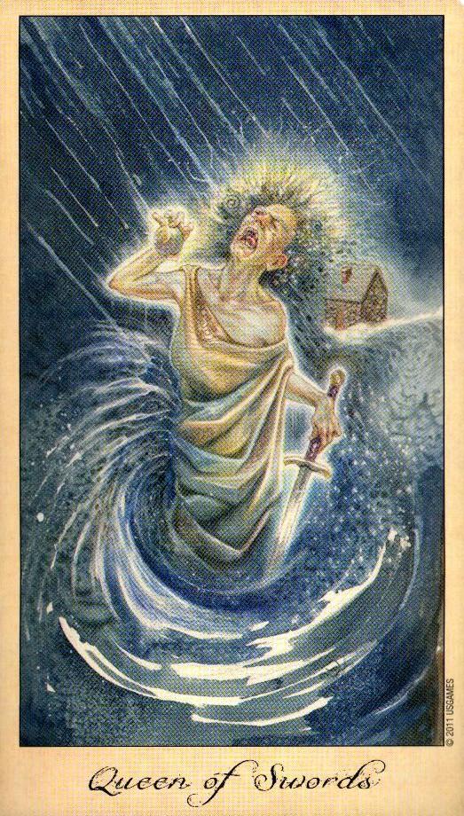 Королева Мечей Таро Призраков и Духов Ghosts & Spirits Tarot