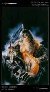 Королева Мечей Темное Таро Ройо