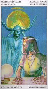 Королева Пентаклей Таро Мир Духов Tarot of the Spirit World