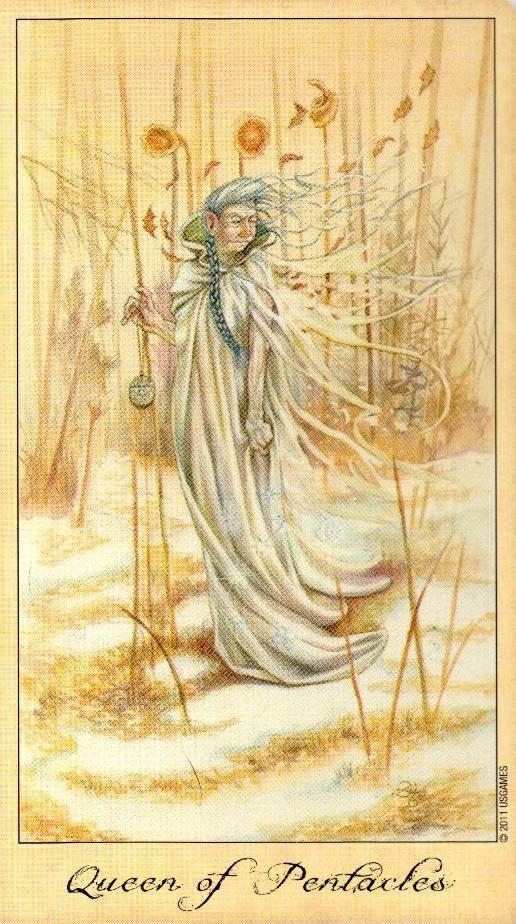 Королева Пентаклей Таро Призраков и Духов Ghosts & Spirits Tarot