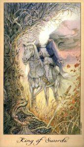 Король Мечей Таро Призраков и Духов Ghosts & Spirits Tarot