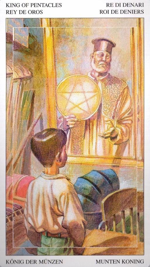 Король Пентаклей Таро Мир Духов Tarot of the Spirit World