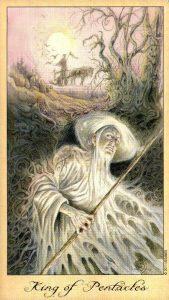 Король Пентаклей Таро Призраков и Духов Ghosts & Spirits Tarot