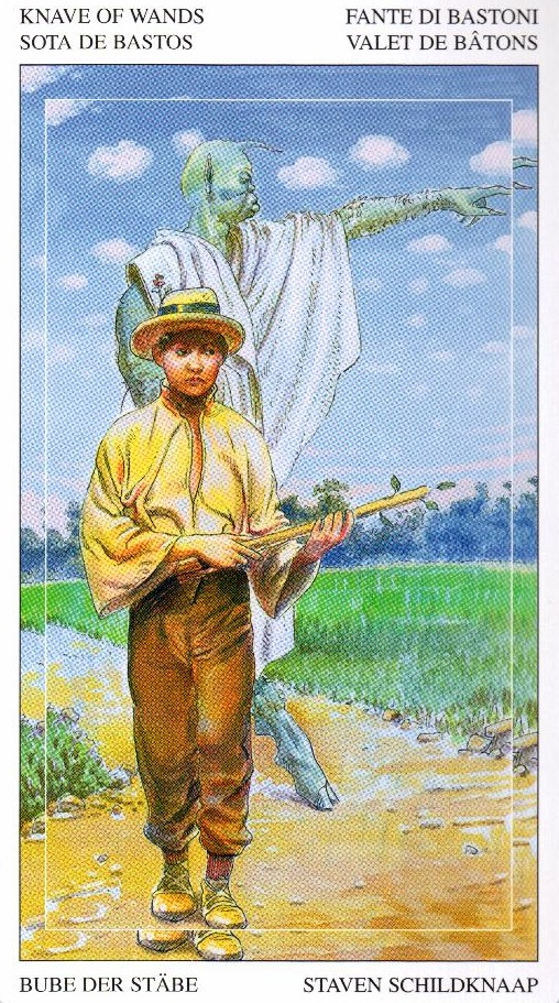 Паж Жезлов Таро Мир Духов Tarot of the Spirit World