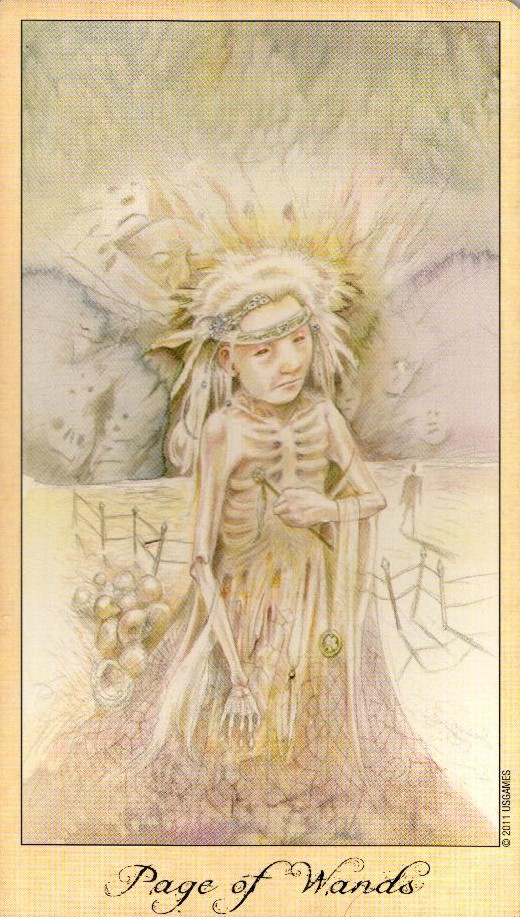Паж Жезлов Таро Призраков и Духов Ghosts & Spirits Tarot