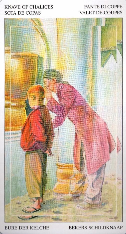 Паж Кубков Таро Мир Духов Tarot of the Spirit World