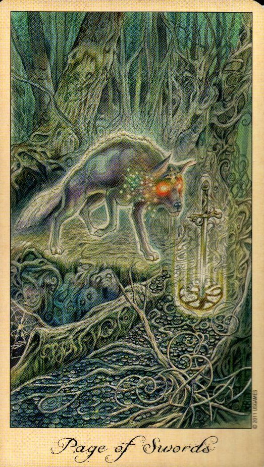 Паж Мечей Таро Призраков и Духов Ghosts & Spirits Tarot