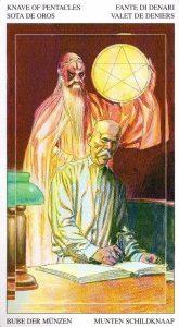 Паж Пентаклей Таро Мир Духов Tarot of the Spirit World