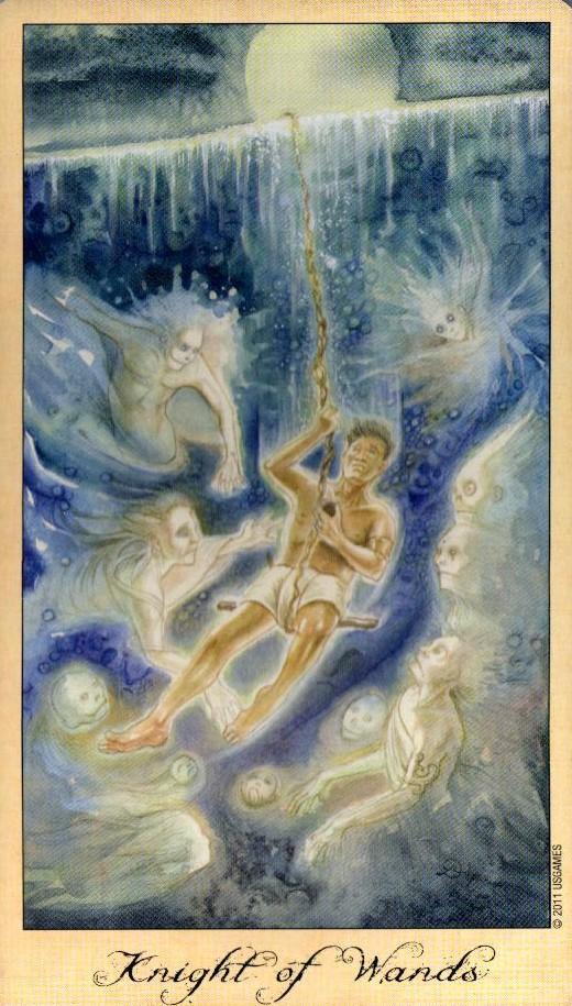 Рыцарь Жезлов Таро Призраков и Духов Ghosts & Spirits Tarot