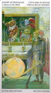 Рыцарь Пентаклей Таро Мир Духов Tarot of the Spirit World