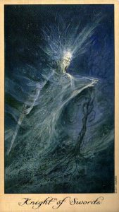 Рыцарь Пентаклей Таро Призраков и Духов Ghosts & Spirits Tarot