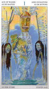 Туз Жезлов Таро Мир Духов Tarot of the Spirit World