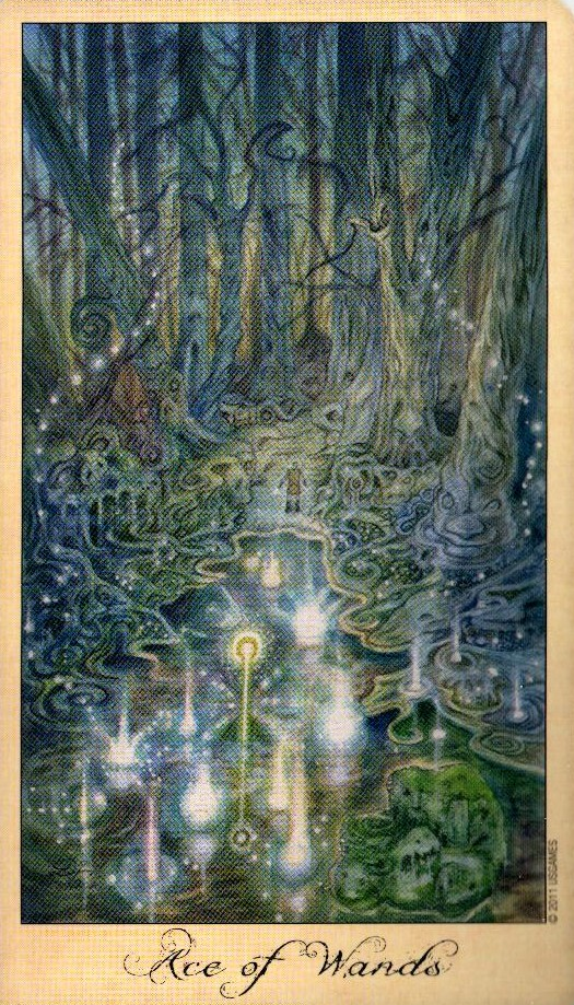 Туз Жезлов Таро Призраков и Духов Ghosts & Spirits Tarot