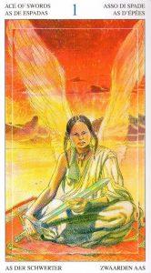 Туз Мечей Таро Мир Духов Tarot of the Spirit World
