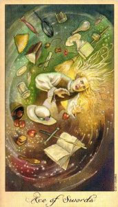 Туз Мечей Таро Призраков и Духов Ghosts & Spirits Tarot