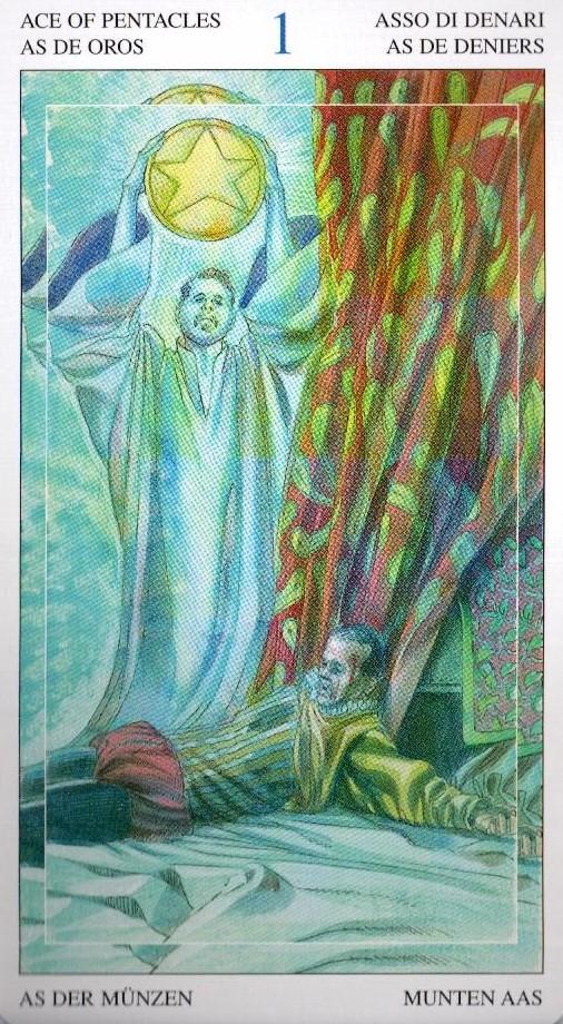 Туз Пентаклей Таро Мир Духов Tarot of the Spirit World