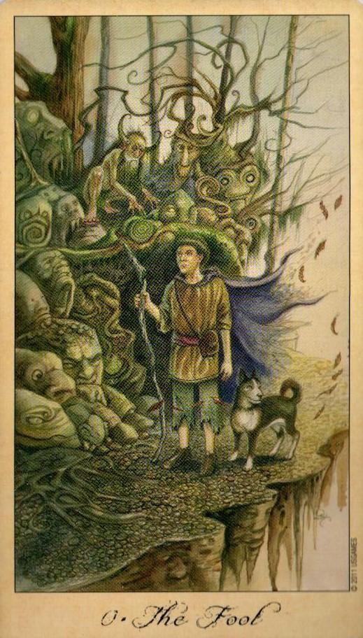 0 Шут Дурак Таро Призраков и Духов Ghosts & Spirits Tarot