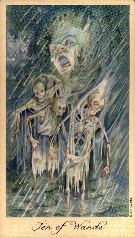 10 Жезлов Таро Призраков и Духов Ghosts & Spirits Tarot