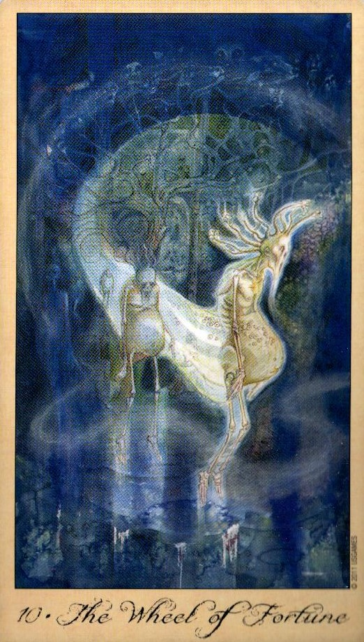 10 Колесо ФортуныТаро Призраков и Духов Ghosts & Spirits Tarot
