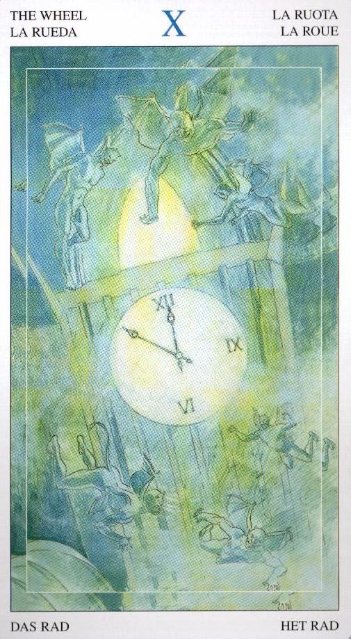 10 Колесо Фортуны Таро Мир Духов Tarot of the Spirit World